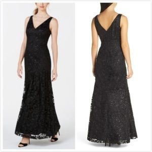 NWT Vince Camuto Lace Asymmetrical Gown